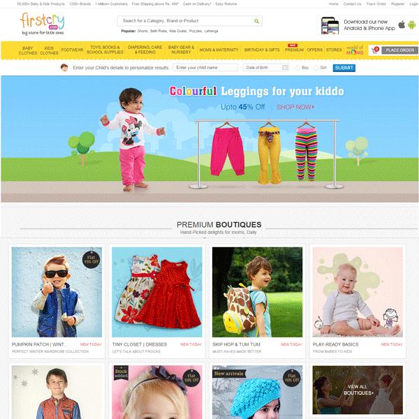 Firstcry.com Home Page Screenshot