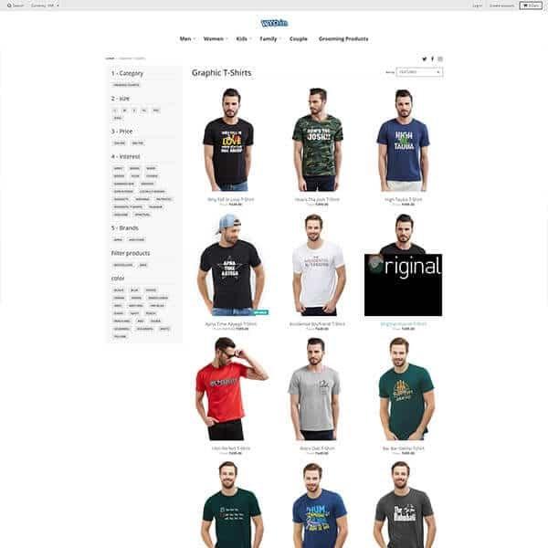 Wyo.in Men's Garment Page Screenshot