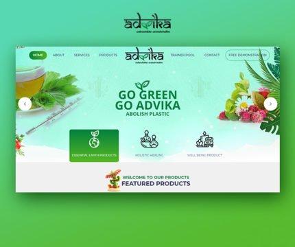 GoAdvika Website Screenshot